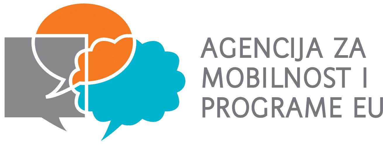 Logotip Agencije za mobilnost i programe Europske unije na hrvatskom jeziku