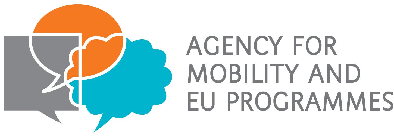 Logotip Agencije za mobilnost i programe Europske unije na engleskom jeziku