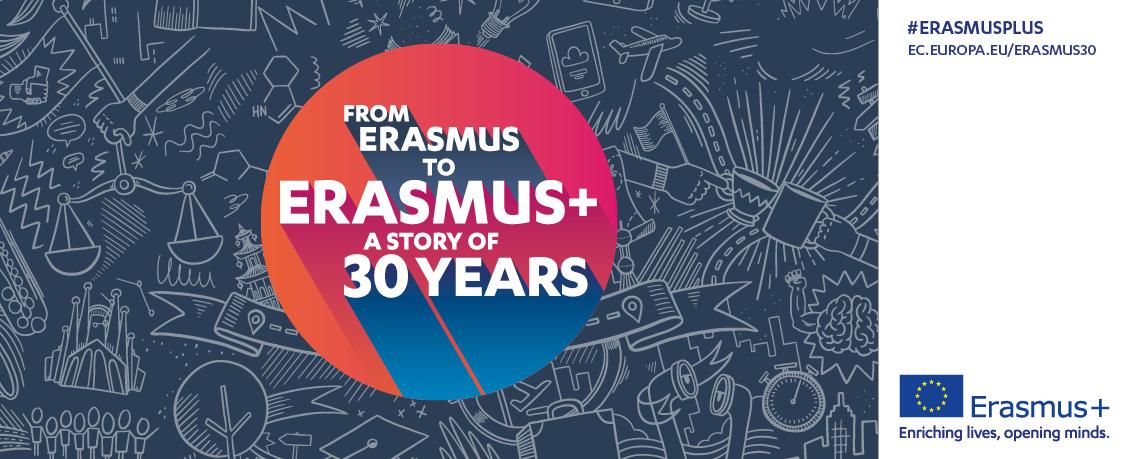 logotip 30 godina programa Erasmus