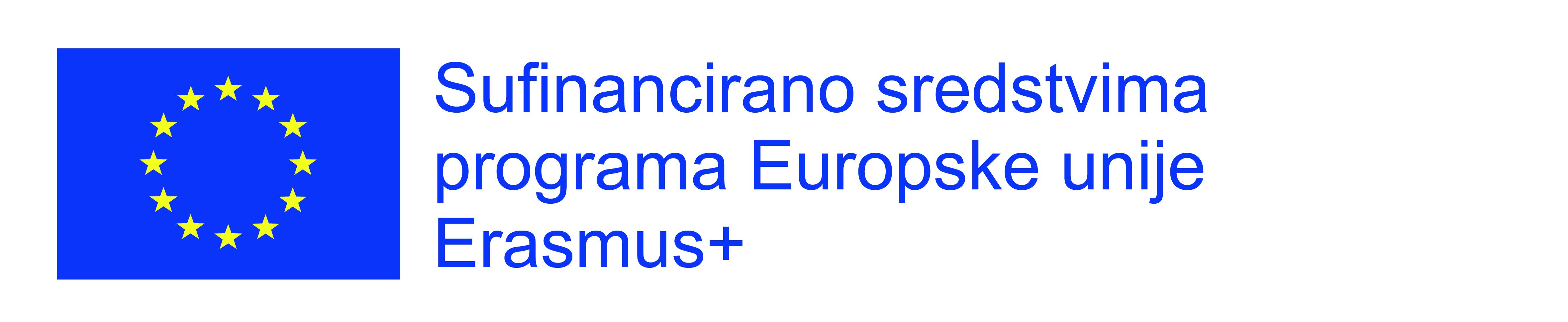 Sufinancirano sredstvima programa Europske unije Erasmus+ (tekst lijevo)