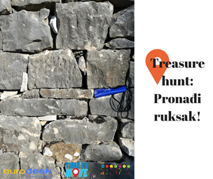 vizual za Treasure hunt: Pronađi ruksak!