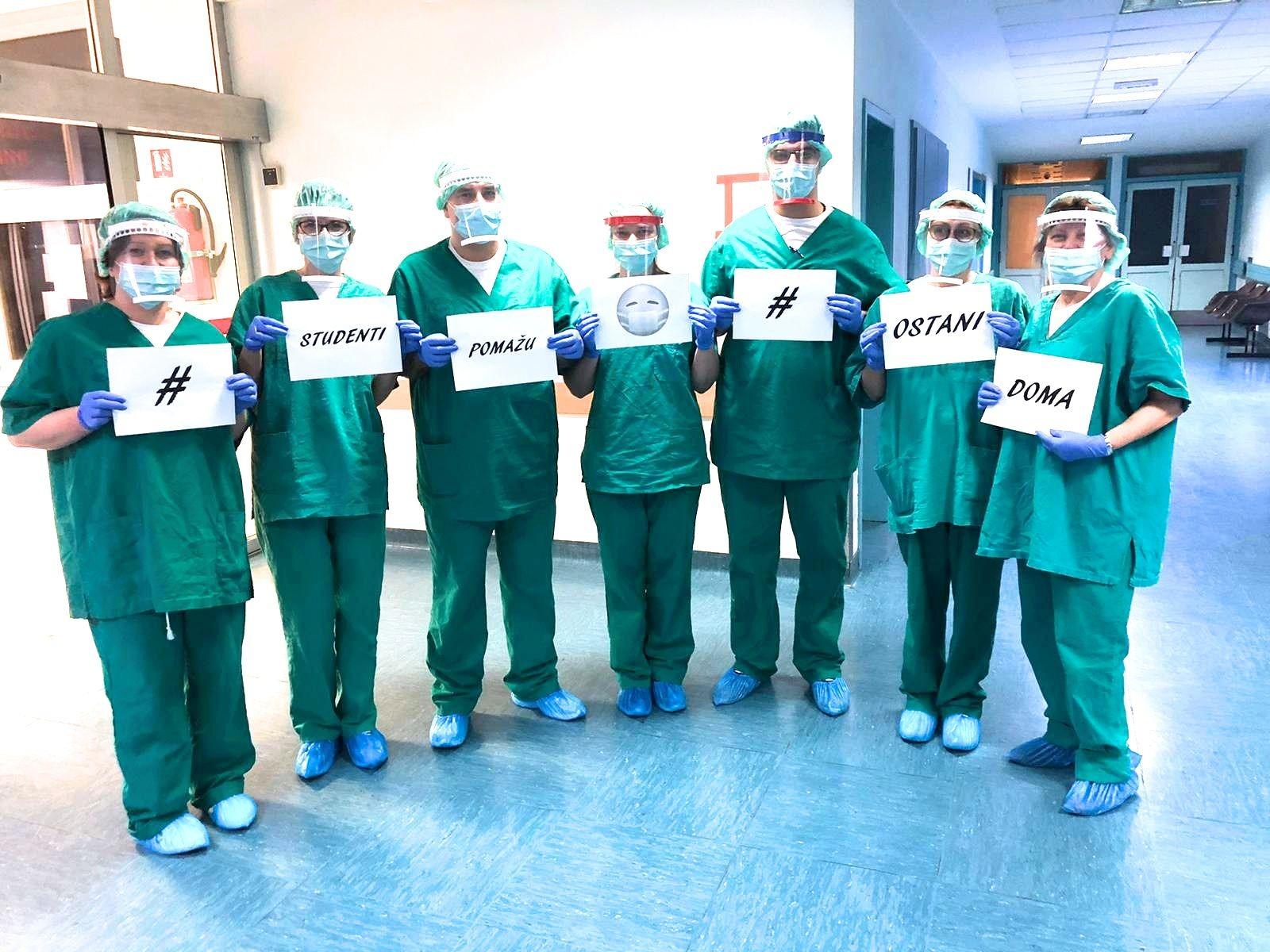 Zaštitni viziri koje su studenti isprintali za zagrebačke liječnike