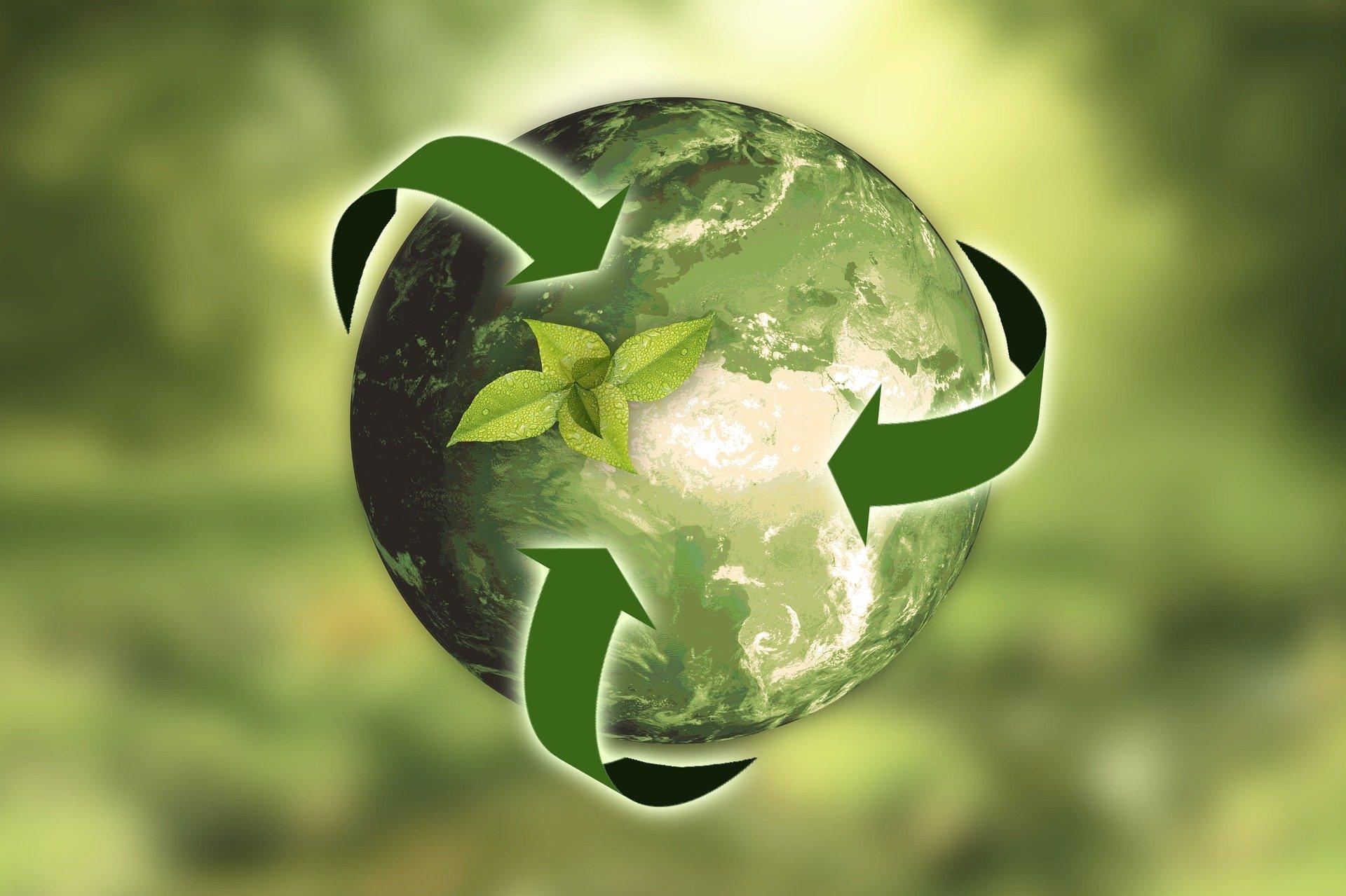 Ilustracija ekološki održive planete Zemlje (annca from Pixabay)