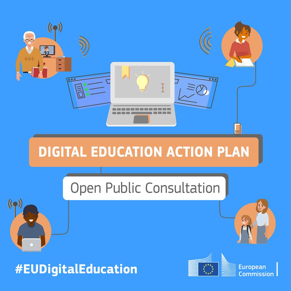 Ilustracija za javnu raspravu na temu digitalnog obrazovanja u EU