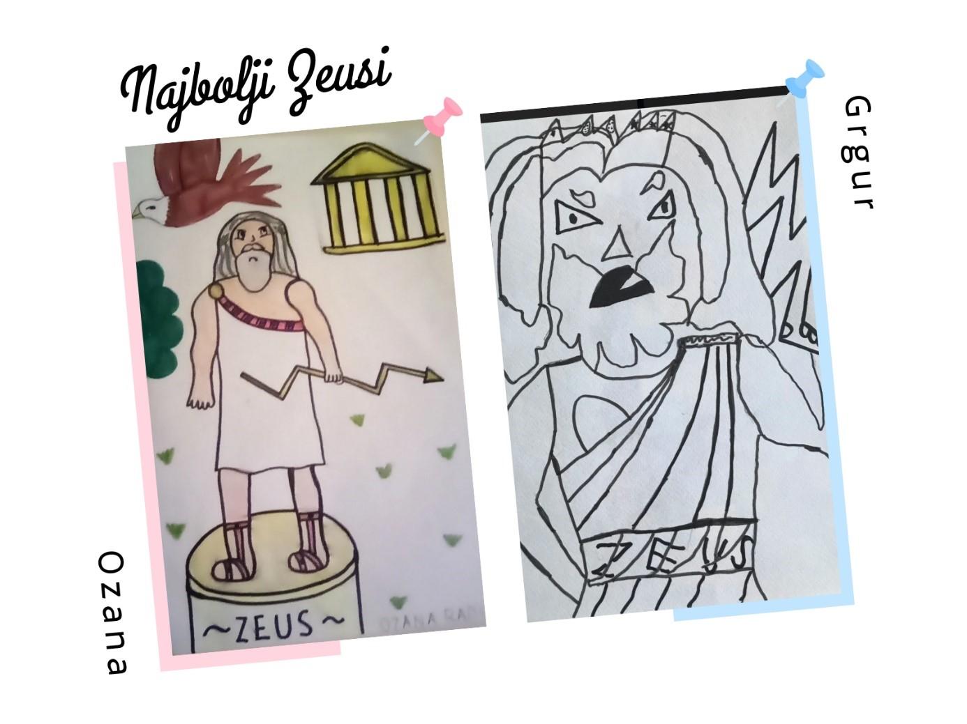 Najbolji crteži Zeusa učenika OŠ Ivana Gundulića u Zagrebu