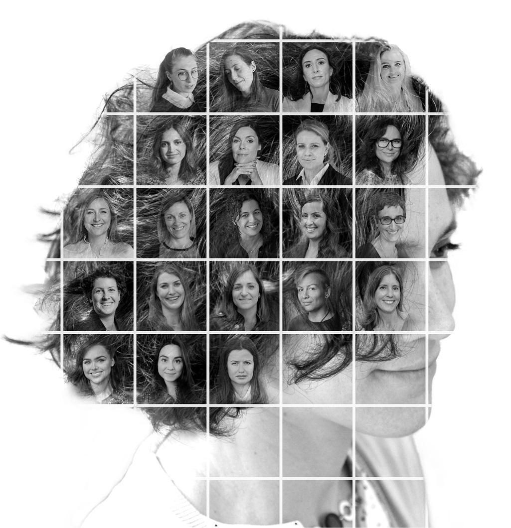 Ilustracija: Mozaik portreta finalistkinja čije inovacije pomažu u borbi protiv globalnih izazova