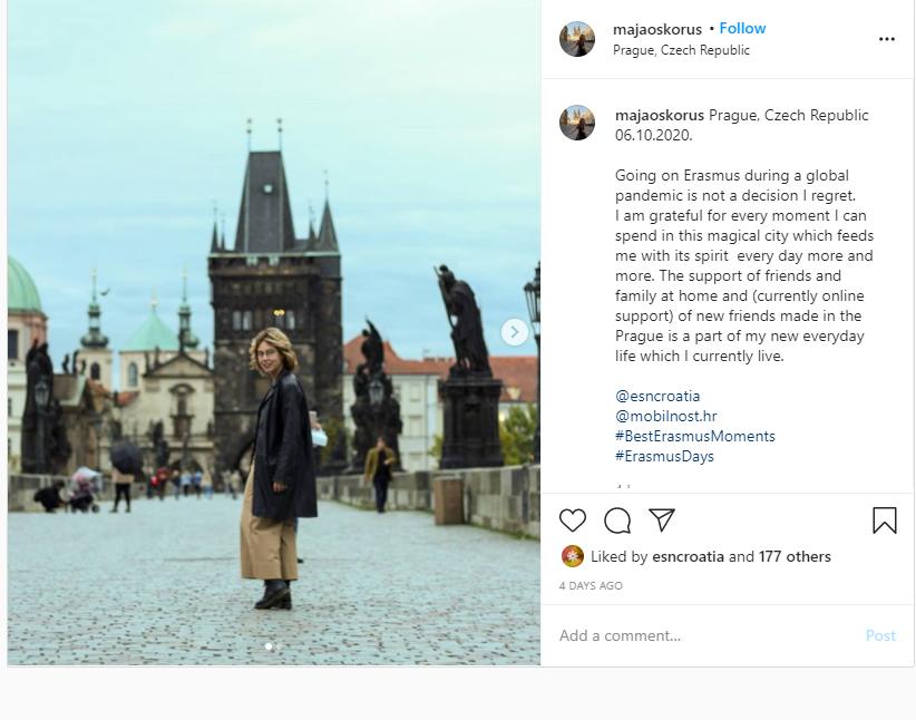 Prvonagrađena fotografija s Erasmusa u Pragu