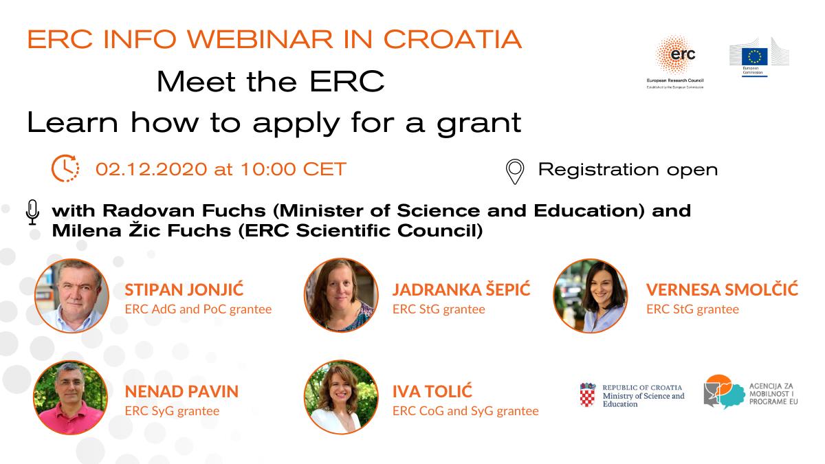 Ilustracija za ERC-ov webinar u Hrvatskoj
