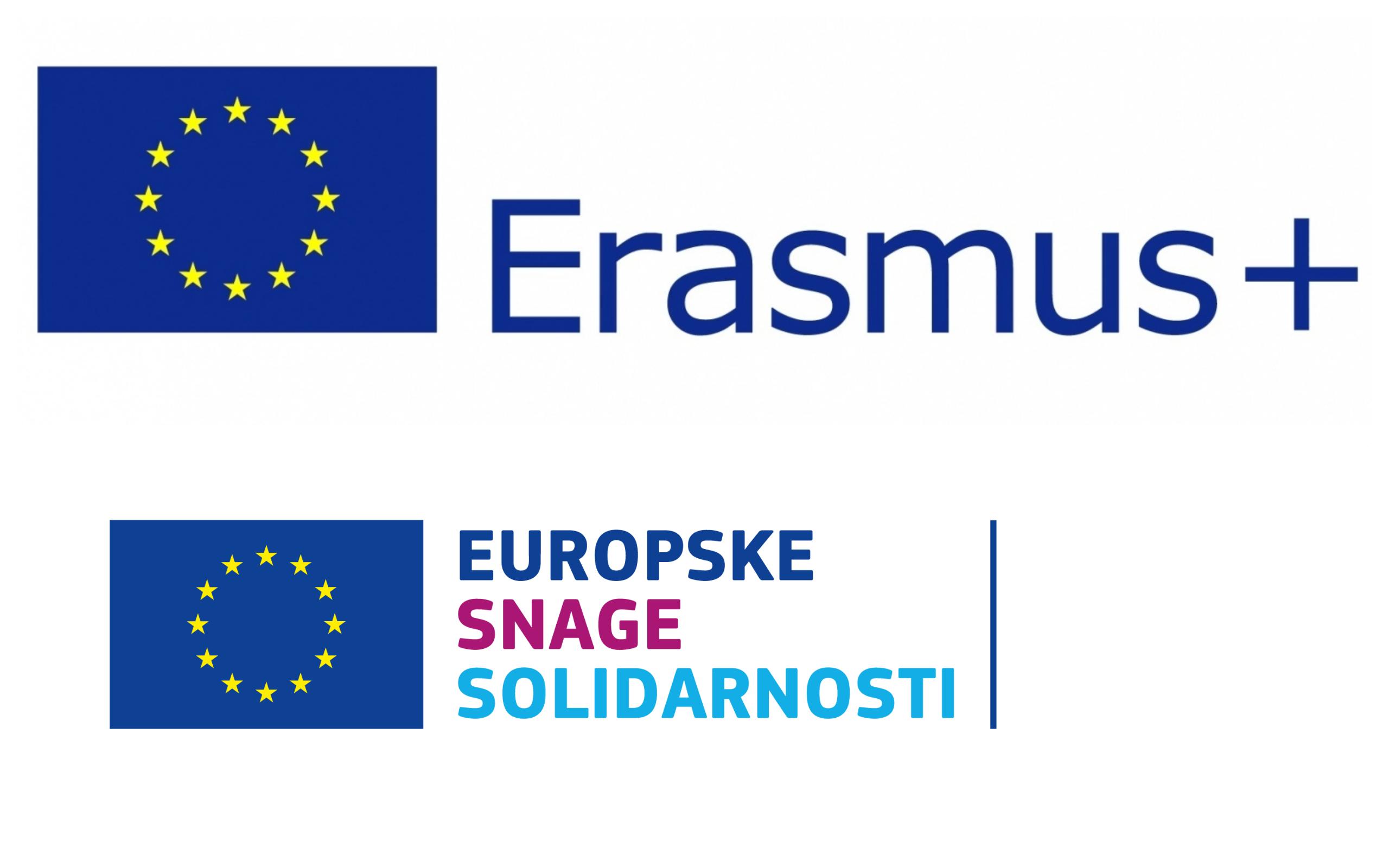 ilustracija za programe Erasmus+ i Europske snage solidarnosti