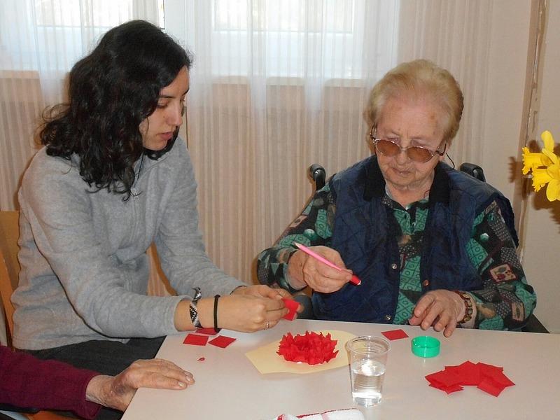 Fotografija volonterskog angažmana u Domu za starije i nemoćne osobe Poreč