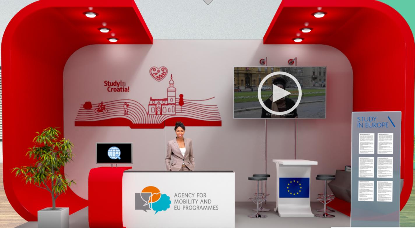 Study in Croatia štand na sajmu Study in Europe