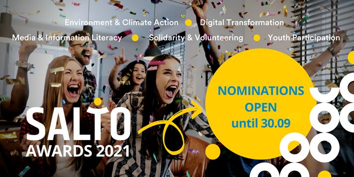 Otvorene su prijave za SALTO Awards 2021 - nagrade za inspirativne i kvalitetne projekte u području mladih - Slika 1