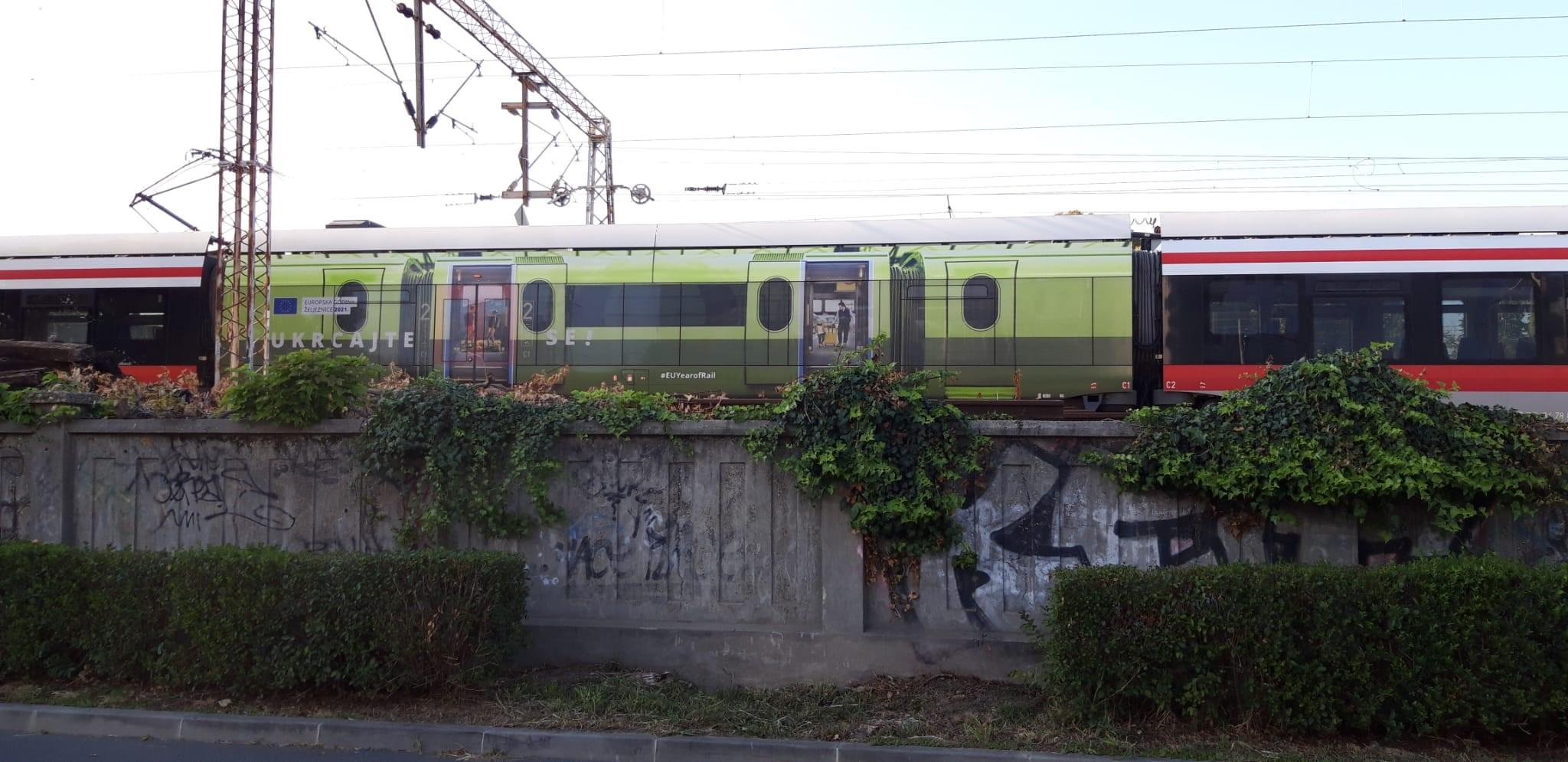 Na kolosijeku Glavnog kolodvora u Zagrebu: Zeleni vagon promovira Europsku godinu željeznice