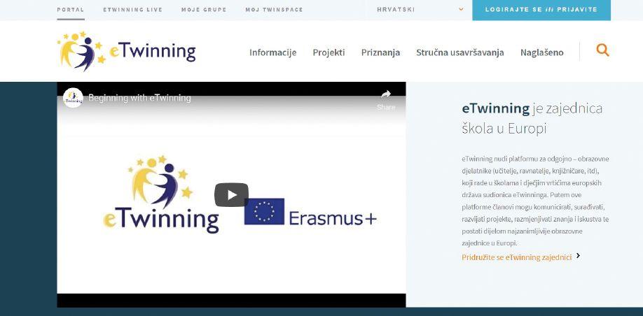 slika stranice www.etwinning.net