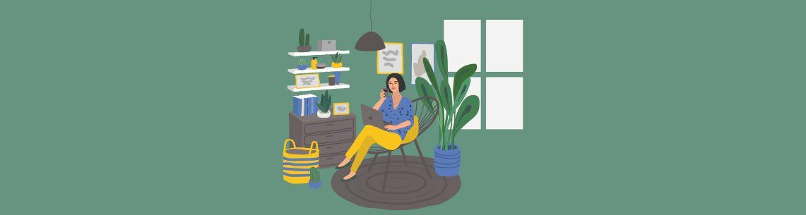 zelene prostorije ilustracija
